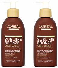 2 X L'Oréal Paris Sublime Bronze One Day Wash off Tinted Gel150 Ml Each