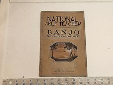 National Self Teacher for Banjo with finger board chart  - music book