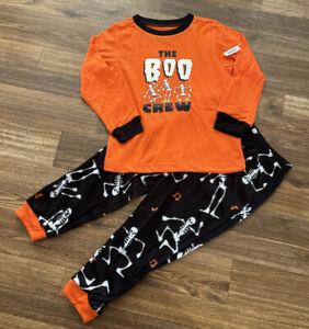 NEW-Kid's Matching Family Pajamas HALLOWEEN BOO CREW 2 PC-Boo Glows in Dark-4T