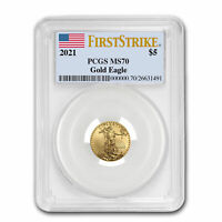 2021 1/10 oz American Gold Eagle MS-70 PCGS (FirstStrike®) - SKU#221986