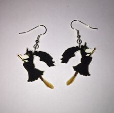 Witch Earrings Wizard Of Oz Charms Broom