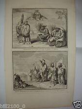 XVIIIé.gravure sur cuivre par B.Picard - Chine . Charlatans . dévots mandians