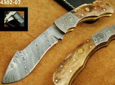 ALISTAR SUPERB BEAUTIFUL DAMASCUS STEEL FOLDING KNIFE (4302-7