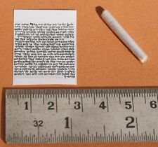 Tiny 2.5cm Printed Jewish Mezuzah Scroll Parchment For Locket Pendant & Necklace