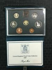 1987 Great Britain 7 Coin Proof Set with Original Box Lot#B844
