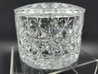 Waterford Crystal  Lismore Covered Candy Trinket Dish Bowl with Lid Signed
