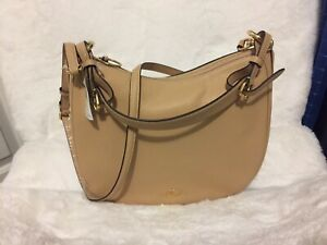 NWT COACH SUTTON PEBBLED LEATHER SHOULDER BAG BEECHWOOD