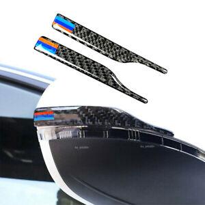 2X Carbon Fiber Rearview Mirror Anti-Rub Trim Sticker For BMW X3 X5 E90 F10 F30