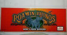 IGT Roamin Rhinos Slot Machine Glass Slant Top Retro