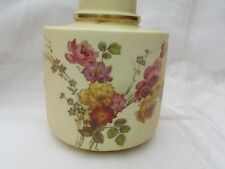 Antique Royal Worcester Blush Ivory Tea Caddy Base Only No Top 1893 date