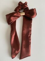 Urban Outfitters Satin Hair Tie/Ribbon/Bow. Rust Orange & Gold BNWT RRP £10