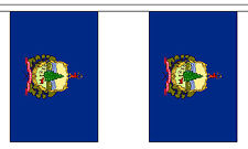 VERMONT U.S. STATE BUNTING 9 metres 30 flags Polyester flag