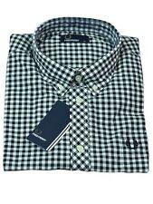 Fred Perry Button-Down Kurzarmhemd M2380 102 Schwarz / Weiß #5777