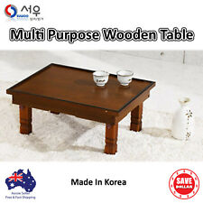 Multi Purpose Korean Folding Wooden Table Tea Study Laptop Portable Tray Wood
