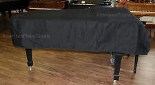 "Boston Piano Cover 6'4"" Black Mackintosh with SIde Slits GP-193"