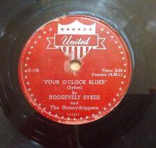 ROOSEVELT SYKES Honeydrippers on UNITED U-139 Four O'Clock Blues - Blues 78 V+