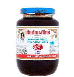Thai Original Chili Paste Nam Prik Pao MAEPRANOM BRAND Popular Recipe Cook & Dip