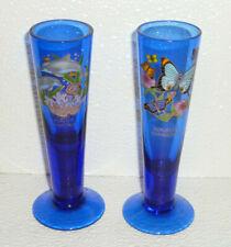 """Republica Dominica Shot Glasses Cobalt Blue Souvenir Butterflies Dolphins 5"""""""