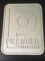 Premier Drums Logo Sign Drum Studio shop plaque wooden display, Snare Drum