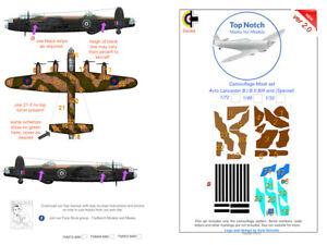 TopNotch Lancaster camouflage scheme vinyl mask set