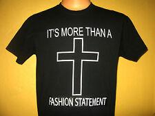 The CROSS - More than a FASHION STATEMENT Tee - Men's Size MEDIUM BLACK T-Shirt