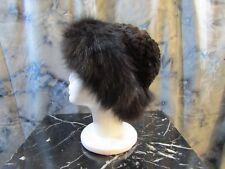 JACQUES FERBER Womans Dark Brown Genuine Rabbit Fur Hat - NWT