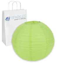 """10"""" inch Chinese Paper Lantern - Apple Green - Wedding Party Event Decoratio fo"""