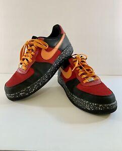 NEW Nike Air Force One 1 Premium 2007 Black Mandarin 315180 681 Size 12