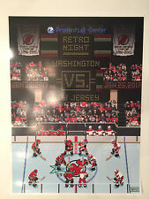 NJ Devils vs Washington Capitals Gameday Poster 1/26/17 Retro Night NHL94