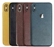 iPhone Leather Look Rear Vinyl Skin Sticker Skin Wrap Cover Case Protective Skin