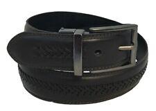 Men's Genuine Leather X-Laced Reversible Belt w/Polished Gun Metal Belt Buckle!!
