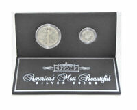 Genuine U.S. Coins America's Most Beautiful Silver Coins Half Dollar & Dime 1937