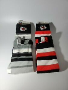 Kansas City Chiefs NFL Crew Toe Socks Size Medium Men 5-10 Women 6-11