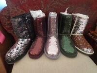 UGG Australia Women's Classic Short Sparkles Boots - Black, Port, Lilac, Forrest