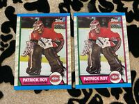 1989-90 Topps Patrick Roy #17 Lot of 2 NM-MT OR BETTER Montreal Canadiens