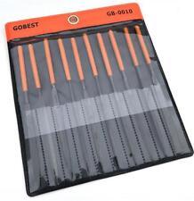 GOBEST metal needle files set 10 pcs, T12, steel, 140x65x3 mm (GB-0010)