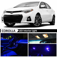 8x Blue Interior LED Package Light Kit for 2000-2016 Toyota Corolla