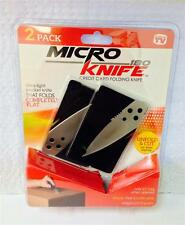 Micro knife 2 Pack As Seen On TV Credit Card Size All Purpose Fits in Wallet