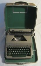Antique Typewriter & Case -- ROYAL QUIET DE LUXE PORTABLE -- Green Keys -- 1955
