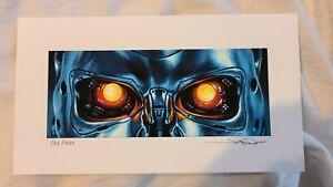 The Terminator Movie Art Print 322/400 Jason Edmiston T-800 EWAF Amazing !