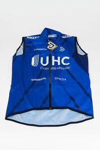 New 2018 Men's Jakroo UHC Pro Cycling Jupiter All-Weather Vest, Blue, Size XS