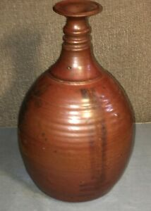 Antique Red ware Jug w Side Hole near Bottom 11""