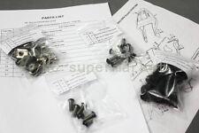 COMPLETE FAIRING BOLTS FASTENERS Clips SCREWS KIT SUZUKI GSXR1000 03-04 BLACK