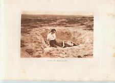 ANTIQUE SORROW MOURNING DEATH DRY DESERT SANDS OF MAN LESCAUT LOVERS SEPIA PRINT