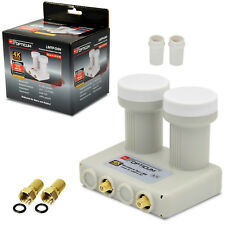 OPTICUM Monoblock TWIN Doppel LNB LNC LMB 2 Sat 0,1 dB ► ASTRA + HOTBIRD