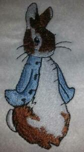 "Machine Embroidered 3 Peter Rabbit Applique Size 1.34"" x 2.97"""