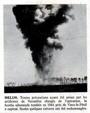 1950  --  DESTRUCTION D UNE BOMBE ALLEMANDE TOMBEE EN 44 A  VAUX LE PENIL  3L551