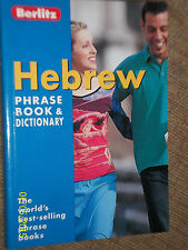 BERLITZ ENGLISH TO HEBREW POCKET TRAVEL PHRASE BOOK WITH DICTIONARY