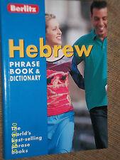 BERLITZ ENGLISH TO HEBREW POCKET TRAVEL PHRASE BOOK WITH DICTIONARY