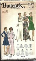 UNCUT Vintage Butterick Sewing Pattern Misses Skirt Top Pants Half Size 3142 OOP